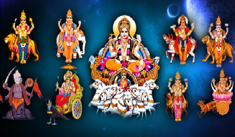 Tridevon ke saath Navagrah Smaran Mantra