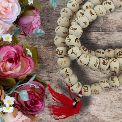 White Tulsi Japa Mala 108+1 8mm Hare Rama Hare Krishna Beads