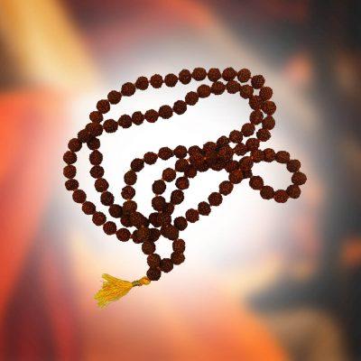 108 Beads Rudraksha Jaap Mala use for Chanting, Necklace Prayer Beads, Meditation