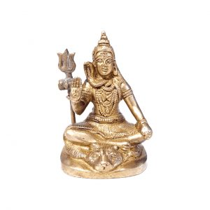 Lord Shiva Statue Made in Brass Metal 3.5 inches