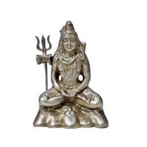 Lord Shiva Brass Statue Idol in Padmasana 6.3 inches