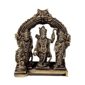 4 Inch Ram Darbar (Ram, Sta, Laxman & Hanuman) Murti Idol Statue Sculpture