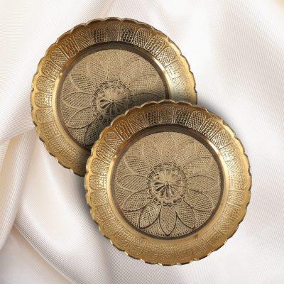 5.5 Inch Handicraft Brass Pooja Thali for home, Festival