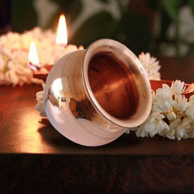 Indian Copper Pooja Kalash Lota for Home Mandir/ Festival Pooja