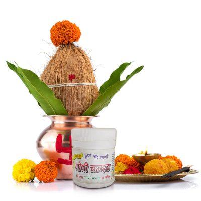 Special Brij White Gopi Chandan for Pooja (Pack of 2)