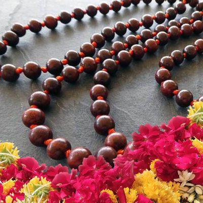 108 Rosewood (Red Sandalwood) Mala for Chanting , Meditation