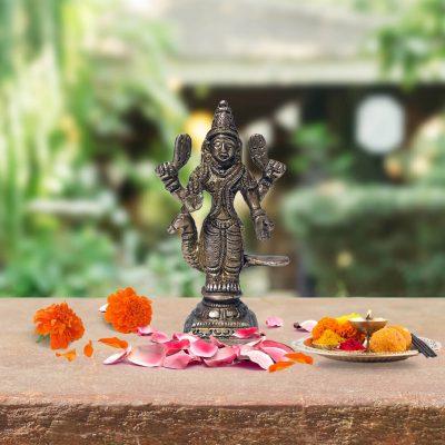 4 Inch Murugan Swami Brass Statue for Home Pooja