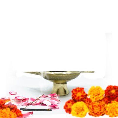 Handmade Indian Brass Small Diya for home pooja / Oil Lamp Diya/ Pooja Deepak