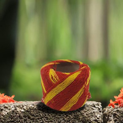 Red & Yellow Handmade Mauli, Kalawa, Sacred Moli, Religious Cotton Thread, Pooja Dhaaga for Pujan, Havan,