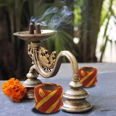 Red & Yellow Handmade Mauli, Kalawa, Sacred Moli, Religious Cotton Thread, Pooja Dhaaga for Pujan, Havan, Worship