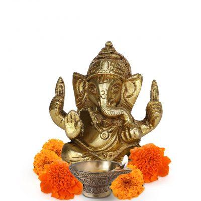 Ganesha Small Idol Brass Statue