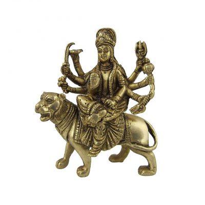 urga Kali Brass Statue 5 inch Pooja Figurine for Home Temple Durga Sculpture for Pooja