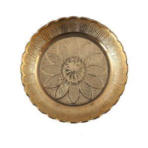 Handicraft Brass Puja Thali 5.5 Inch