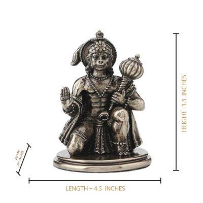"""Hanuman Ji Brass 3.25"""" Statue"""