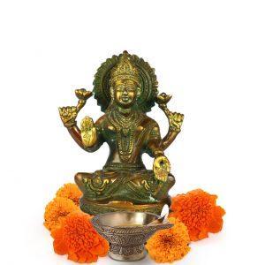 Lakshmi Ji Brass Idol Statue