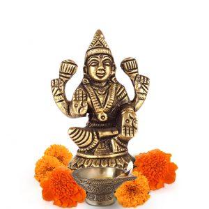 Laxmi Maa Brass Statue