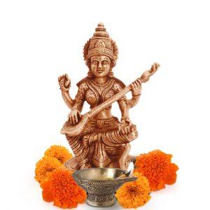 Saraswati Brass Idol Statue