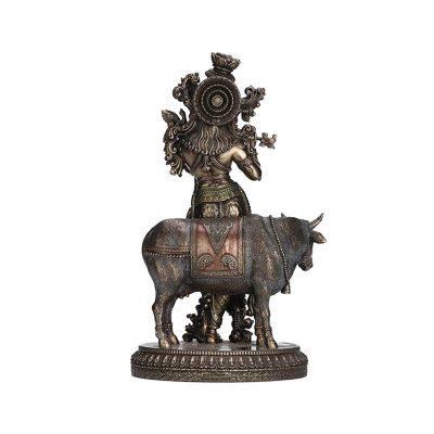 Bronze Krishna Statue 6.65 inches
