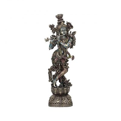 Lord Krishna Playing Flute Statue 9.8 inches