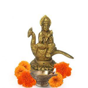 Brass Sitting Murugan Karthikeya