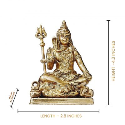 Brass Statue Of Lord Shiva With Trishool