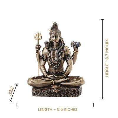 Shiva Statue in Padmasana Lotus Pose-Hindu