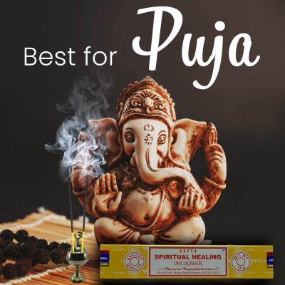 Satya Spiritual Healing Incense Sticks for Prayer, Pooja, Worship, Meditation, Relexing, Stress Relief