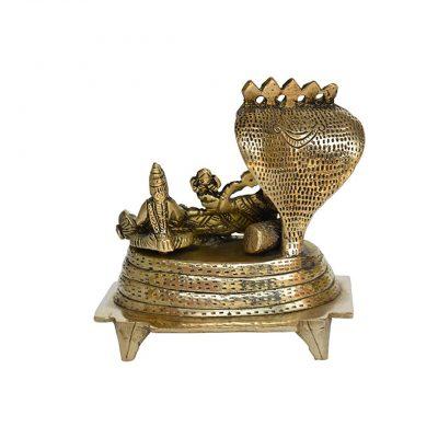 Vishnu Laxmi Sitting On Sheshnag